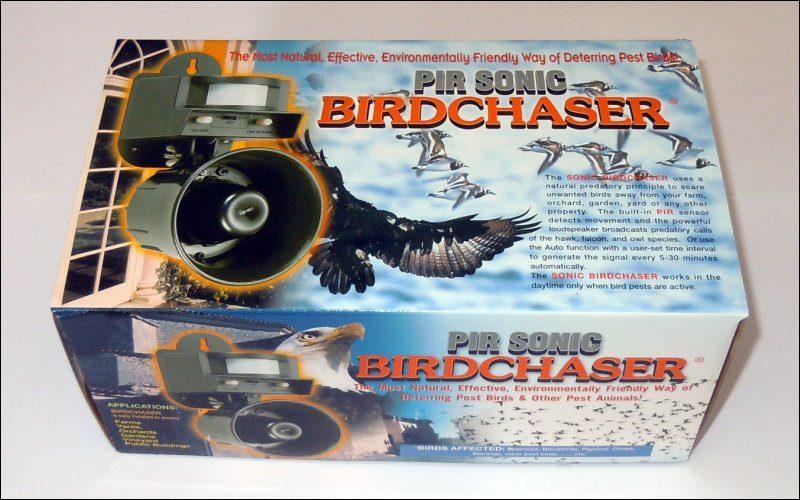 Звуковий відлякувач птахів LS-2001 з кабелем для живлення від акумулятора - 1