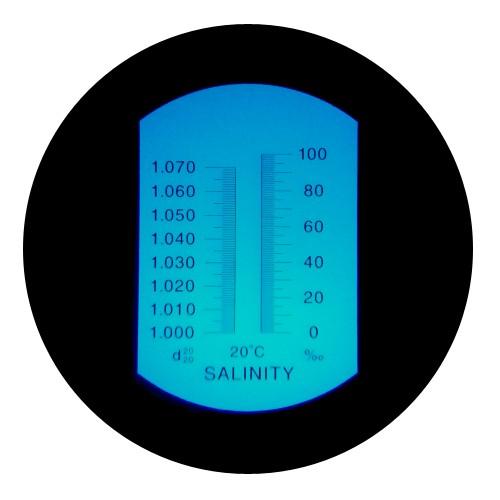 """Рефрактометр для соли (0 ... 100‰ Salt) """"HT211ATC"""" - 1"""