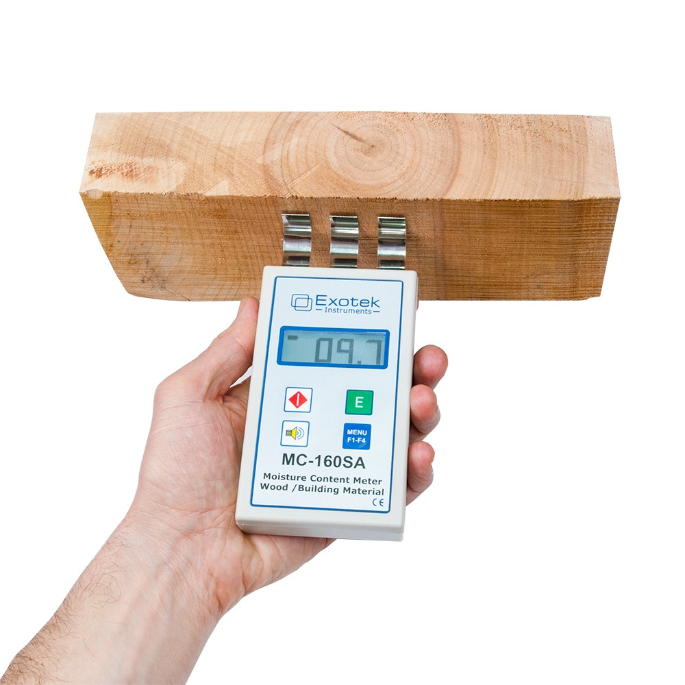 Професійний НВЧ вологомір деревини та будматеріалів EXOTEK MC-160SA - 3