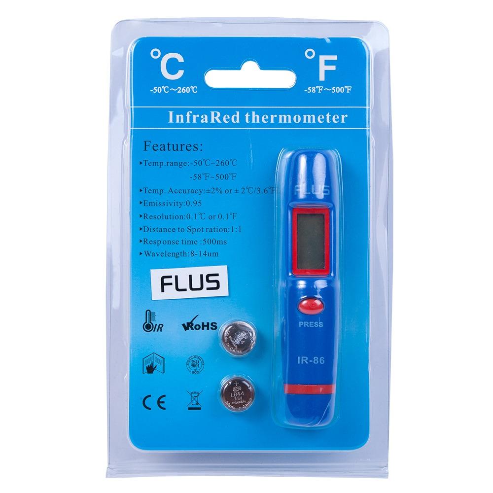Інфрачервоний термометр - пірометр Flus IR-86 (-50 ...+260) - 4