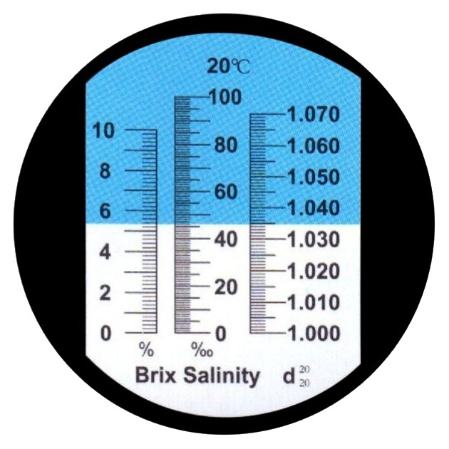 "Рефрактометр для солі та цукру (0...100‰ Salt, 1,00...1,07 d20/20, 0...10% Brix) ""HT213ATC"" - 2"